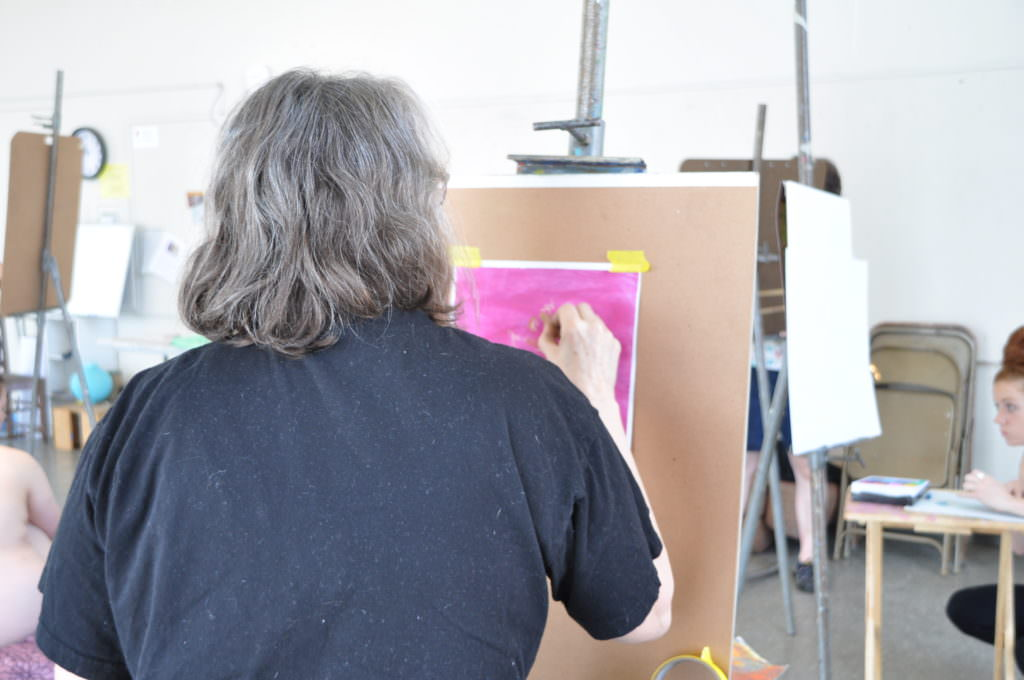 person painting
